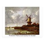 Windmill At Wijk By Jacob Isaacksz.Van Ruisdael Postcards