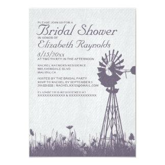Windmill Bridal Shower Invitations