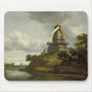 Windmill by a River Mouse Pad