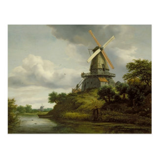 Windmill by a River Postcard