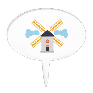 Windmill Cake Topper