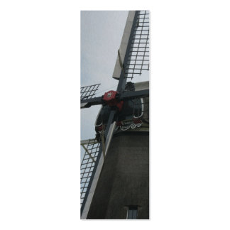 Windmill Close-up Holland Photo Bookmark Mini Business Card