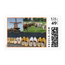 Windmill, Cows and Clogs Postage Stamps
