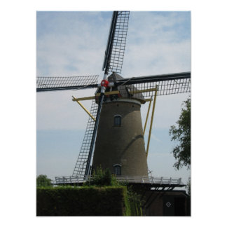 Windmill D'Arke in Oostkapelle Photo Poster Print