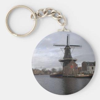 "Windmill ""De Adriaan"", Haarlem Keychain"