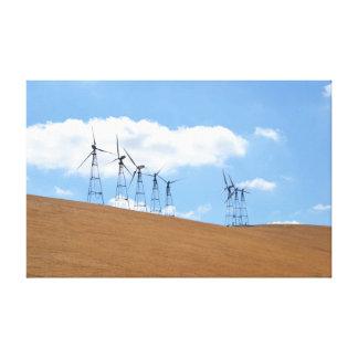 Windmill Farm in Northern California Canvas Print