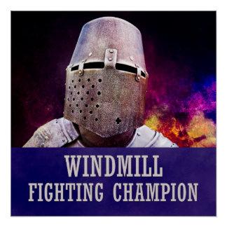 Windmill fighting champion poster