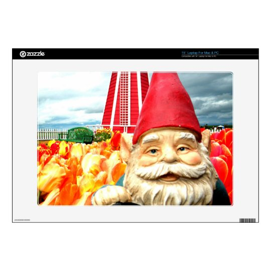 """Windmill Gnome 15"""" Laptop Decals"""