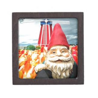 Windmill Gnome Jewelry Box