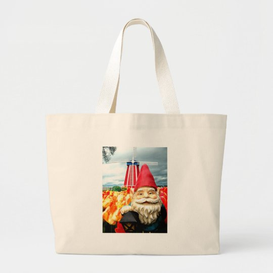 Windmill Gnome Large Tote Bag