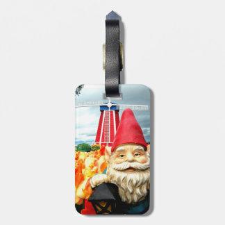 Windmill Gnome Luggage Tag