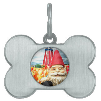 Windmill Gnome Pet Tag
