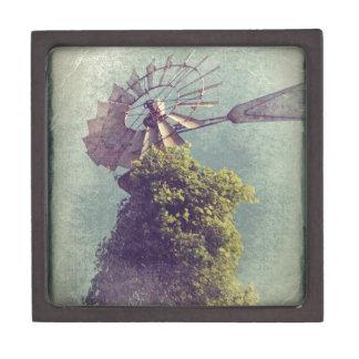 Windmill Grunge Jewelry Box