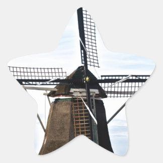 Windmill Holland Star Sticker