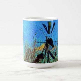Windmill in Blue Mug