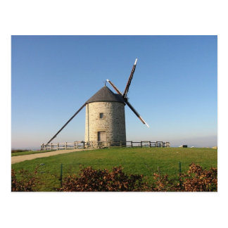 Windmill in Brittany, France Postcard