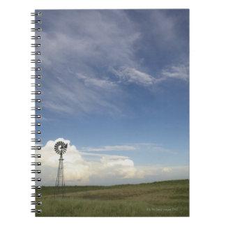 Windmill in Field Spiral Notebook