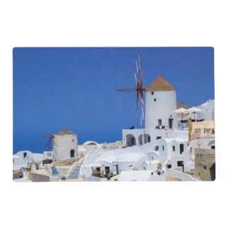 Windmill in Oia, Santorini, Greece Placemat