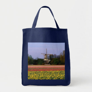 Windmill in the bulb fields tote bag