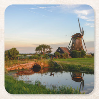 Windmill in the countryside in Holland coaster