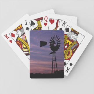 Windmill in Wine Country at Sunset Playing Cards
