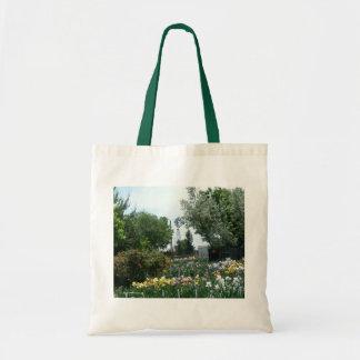 Windmill & Iris Field Tote Bag