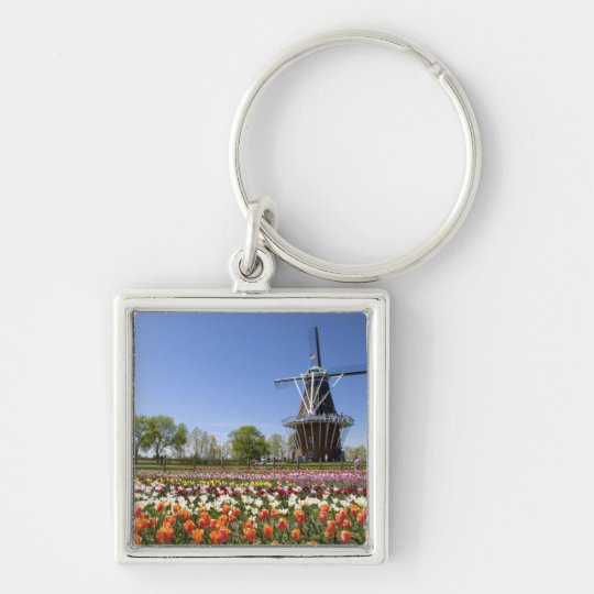 Windmill Island park with tulips in bloom at Keychain