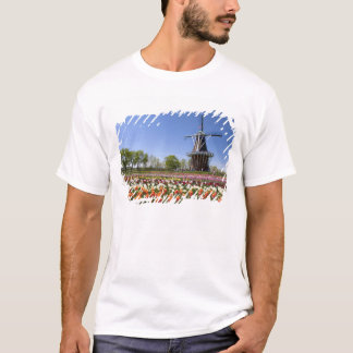 Windmill Island park with tulips in bloom at T-Shirt