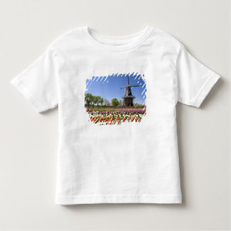 Windmill Island park with tulips in bloom at Toddler T-shirt