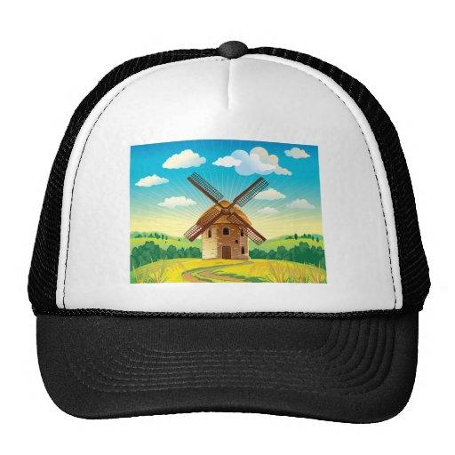 Windmill Landscape Hat