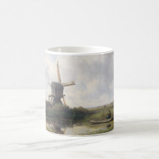 Windmill Landscape - Willem Roelofs Coffee Mug