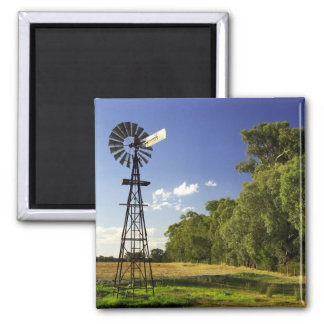 Windmill near Hume Highway, Victoria, Australia 2 Inch Square Magnet