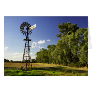 Windmill near Hume Highway, Victoria, Australia Card