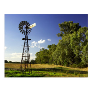Windmill near Hume Highway, Victoria, Australia Postcard