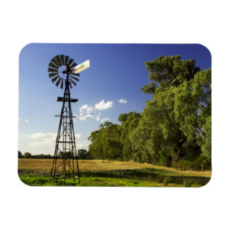 Windmill near Hume Highway, Victoria, Australia Rectangular Photo Magnet