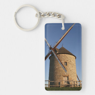 Windmill of Moidrey, Normandy, France Keychain