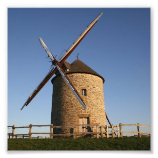 Windmill of Moidrey, Normandy, France Photo Print