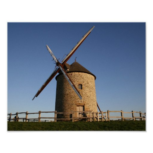 Windmill of Moidrey, Normandy, France Posters