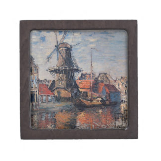 Windmill on the Onbekende Canal, Amsterdam Jewelry Box