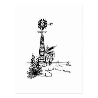 Windmill Outline Postcard