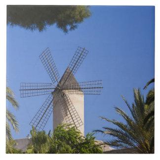 Windmill, Palma, Mallorca, Spain Tile