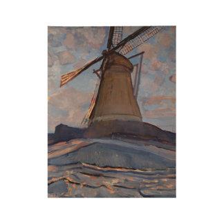 Windmill ,  Piet Mondrian (Dutch, 1872 - 1944) Wood Poster