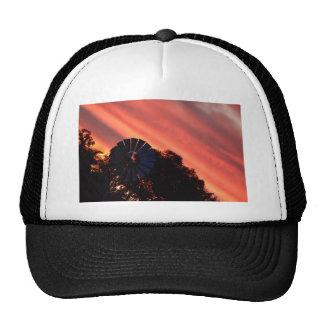 WINDMILL & PINK SUNSET IN RURAL AUSTRALIA TRUCKER HAT