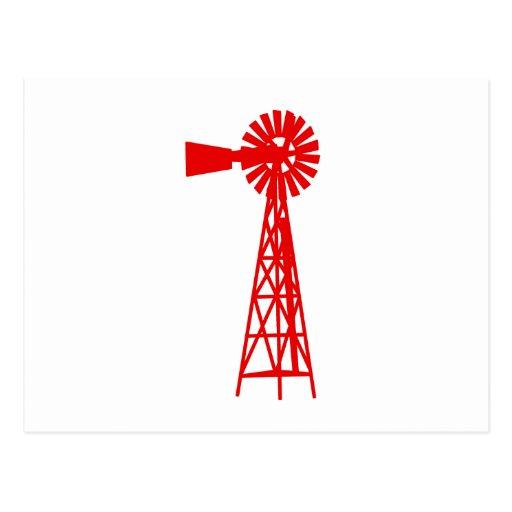 Windmill.png rojo postales