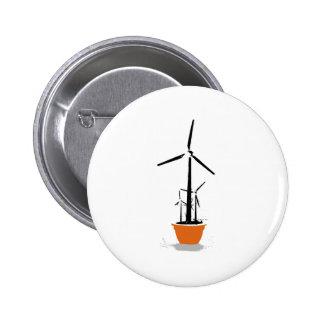 Windmill pot pinback button