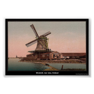 Windmill, rear view, Holland Poster