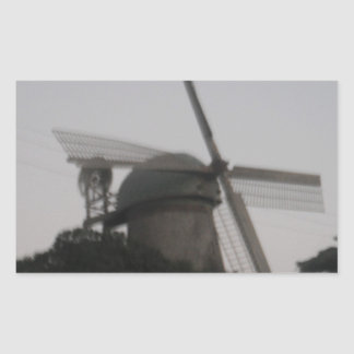 Windmill Rectangular Sticker