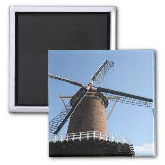 "Windmill ""Rijn en Lek"", Wijk bij Duurstede 2 Inch Square Magnet"