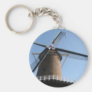 """Windmill """"Rijn en Lek"""", Wijk bij Duurstede Basic Round Button Keychain"""