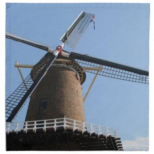 """Windmill """"Rijn en Lek"""", Wijk bij Duurstede Napkin"""
